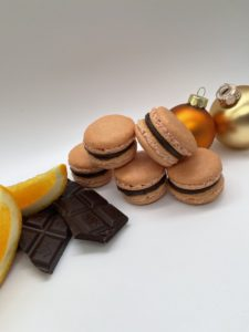 Schokolade Orange Macarons